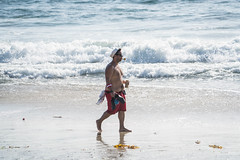 Popeye Guy on the Beach - Laguna Beach, California (ChrisGoldNY) Tags: chrisgoldphoto chrisgoldny chrisgoldberg bookcovers albumcovers licensing sony sonyalpha sonya7rii sonyimages lagunabeach california socal cali orangecounty laguna westcoast