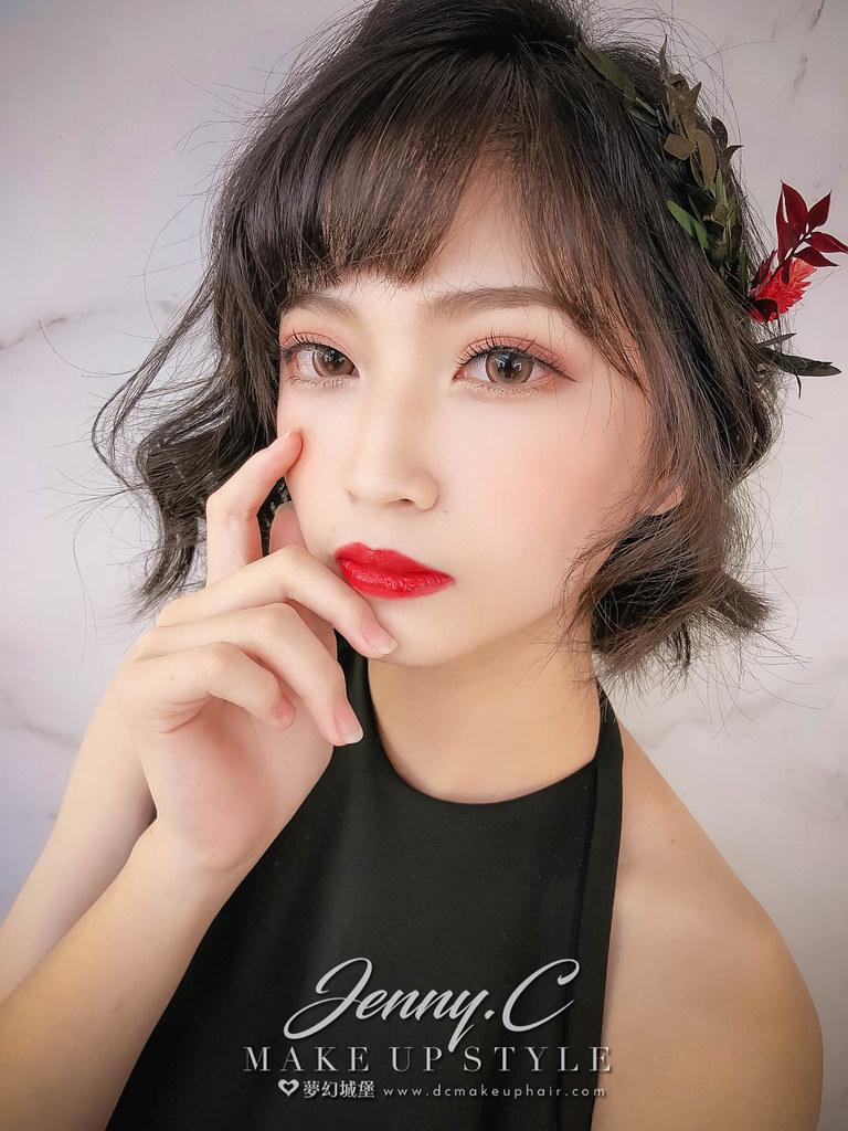 【新秘蓁妮】新娘造型創作 /  短髮-唯美空靈