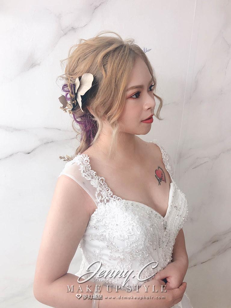 【新秘蓁妮】新娘造型創作 / 後編髮日系風