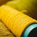 Close Up Of Yellow Yarn