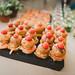 Delicious Mini Burgers On Wooden Board