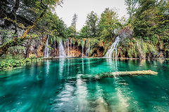 Turquoise & Falls (orkomedix) Tags: canon eosr samya samyang 14mmf28 plitvice lakes waterfall turquoise falls water tree phototrip croatia national park