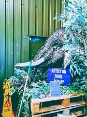 Elephant head (daveandlyn1) Tags: model sculpture metalwork thebritishironworkscentre nroswestry shropshireuk entrance pralx1 p8lite2017 huawei smartphone psdigitalcamera cameraphone
