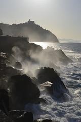 espuma de mar (gabrielg761) Tags: olas paseonuevo donosti sansebastian espuma luz atardecer