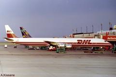 DHL DC-8 N803DH (Adrian.Kissane) Tags: 46123 1997 n803dh dc8 shannonairport shannon cargo dhl