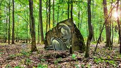 Dear Deer (JuliSonne) Tags: streetart urbanekunst mauer wall graffiti colors scene urban pasteup stencil street r forest