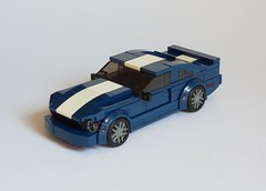 2009 Ford Mustang GT (MOCs & Stuff) Tags: lego city town speed champions alternate ford mustang gt vista blue