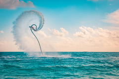 Sunset splash (icemanphotos) Tags: flyboard watersport exotic splash sea sunset light sport activity recreational view ocean water