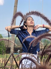 portrait (ChalidaTour) Tags: thailand thai asia asian girl femme fils chica nina woman teen sweet cute beautiful petite slender slim flowers mountains portrait nature