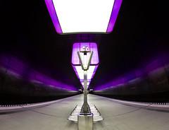 Hamburg Hafencitiy in purple (kuestenkind) Tags: hamburg hafencitiy station ubahnhof u4 purple violet fisheye weitwinkel 12mm northgermany norddeutschland