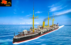 Sao Gabriel Light Cruiser (Eínon) Tags: cruiser cruzador sao gabriel rafael s protected protegido portugal museu de marinha armada portuguese navy lego