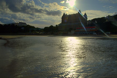 Sunlit Scarborough beach (Tony Worrall) Tags: scarborough yorkshire beach sunlit wet sand scenic damp reflection seaside yorks golden sun weather water resident tour english british tourist holiday hotel stay item location place buy sell sale bought stock ilobsterit instagram sandy serene beauty