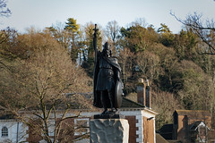 The King Alfred statue on a sunny autumn day (Ed Bartholomew) Tags: architecture art building city cityscape fall landscape memorial nature old outdoor photography sculpture statue trees winchester winter