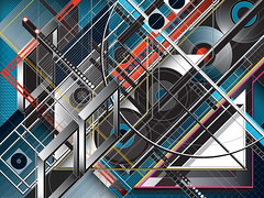 DX_070 (Marks Meadow) Tags: abstractart abstractdesign architectural abstract asymmetry geometric geometricart graphic markmckie mckie design diagram hardedge