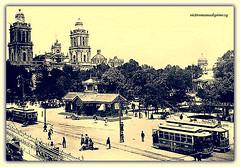 ZOCALO OF MEXICO CITY AT THE END OF XIX CENTURY. (Viktor Manuel 990.) Tags: méxicocity oldpicture fotoantigua monochrome monotone digitalart artedigital zocalo querétaro méxico victormanuelgómezg