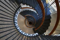 Tromsø stairs (Elbmaedchen) Tags: staircase stairwell stairs stufen steps spirale treppenhaus treppenauge treppe treppenstufen roundandround interior escaliers escaleras upanddownstairs helix schnecke nordnorge norway norwegen tromsø trappe arctis tromsö