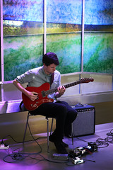 Artist in residence (UCD Staff Photography Club) Tags: ucd dublin ireland university guitar fender performance stainedglass
