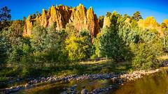 Orange Rock Spires along El Rito Creek (LDMcCleary) Tags: