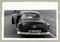 "1952 Oldsmobile 98 (Vintage Cars & People) Tags: vintage classic black white ""blackwhite"" sw photo foto photography automobile car cars motor vehicle antique auto oldsmobile olds fashion 1950s 50s fifties sunglasses shades ballerinas balletflats"