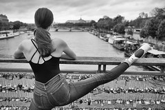 Dance Hall Days (sdupimages) Tags: portrait bokeh dance dancer danseuse parisienne model femme girl woman composition bw nb monochrome hmbt mbt
