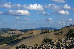 _IMG0116 (polipao) Tags: montefeltro marche ilobsterit colline hills campi fields cielo nuvole clouds sky alberi trees woods plowedfield campiarati landscape paesaggio panorama