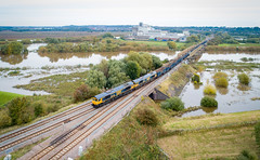 66749 and 66744 at Gainsborough Trent Junctions (robmcrorie) Tags: 66749 66744 river trent bridge gainsborough junctions peterborough doncaster gbrf class 66 phantom 4