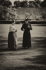 017 (boeddhaken) Tags: backintime timetravel 1900 1900s blackwhite bw retro retrostyle museum priest housewive