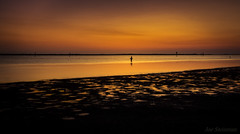 Portrait d'un Pêcheur (JDS Fine Art Photography) Tags: golden sunset beach fisherman minimalism beauty naturesbeauty serenity calm longexposure ndfilter lines simplicity