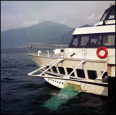 Rolleis Lake Como Experience 2019 (808) (Hans Kerensky) Tags: rolleiflex 35c 6x6 tlr fujifilm pro 160ns scanner plustek opticfilm 120 lake como italy 2019 harbor rapido ship