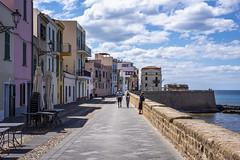 in the morning (*magma*) Tags: alghero sardinia sardegna walk passeggiata street lungomare colori nuvole clouds cielo sky