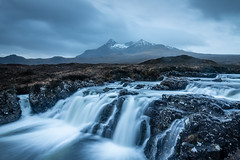Allt Dearg Mor, Waterfall, Cuillin Ridge Sligachan Isle Of Skye (Michael Long Landscaper) Tags: alldearmor isleofskye cuillinridge longexposure skye waterfall mountain falls wet landscape travel sky clouds scotland highlands uk europe visitscotland rive nature geotagged mountains 5d canoneos5d highland benro gitzo canon snowcapped snow sligachan sunrise rocks