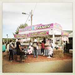 Cotton Candy (awevans4) Tags: deerfield deerfieldfair cottoncandy fair candy hipstamatic color square food newhampshire newengland candyapples