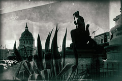 Civic Center (astro twilight) Tags: wetplate oldandnewoldandnewoldandnewoldandnew sanfrancisco civiccentr construction
