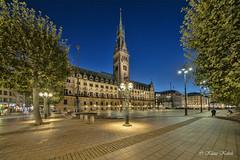 Hamburger Rathaus - 03101902 (Klaus Kehrls) Tags: hamburg city rathaus tathausmarkt architektur plätze nacht nachtaufnahme