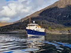 The Majestic Line's MV Glen Shiel anchored in Loch Scavaig (neilwhite483) Tags: themajesticlinecruise cruise cruisescotland scottishscenery beautifulscottishweather scottishisland scottishislandcruising scenicscotland boats ardmaleishboatyard newbuildship launched2019 themajesticline scottishcruising smallshipcruising