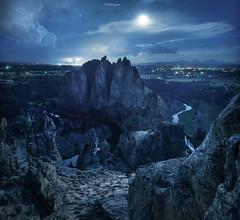 'Lightening Rods' - Smith Rock, Oregon (Gavin Hardcastle - Fototripper) Tags: smith rock oregon moonset lightening misery ridge fototripper michael shainblum milky way made easy