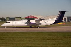 Flybe_Bombardier DHC-8-402Q_G-ECOK. (Josh Greenall Aviation Photography) Tags: flybe brussels bombardier plane aviation manchester egcc turboprop