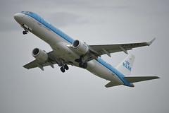 KLM Embraer E190 PH-EXB (Rob390029) Tags: klm embraer e190 phexb newcastle airport ncl egnt