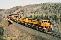 (SEE & HEAR)---LTV 4201-02-07, Cramer, MN. 4-12-2000 (jackdk) Tags: train railroad railway locomotive emd emdgp40 emdgp38 emdgp382 emdgp9 emdgp35 gp40 gp38 gp402 gp382 gp9 gp35 ltv steelroad ore oretrain orejenny seeandhear seehear fallenflag standardcab mountain mountains tunnel