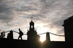 walking on sunshine (afafa02) Tags: silhouettes storkyrkan stockholm backlit backlight sunshine sunset walking