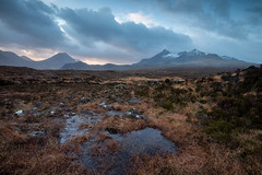 The Cuillins Isle of Skye (Michael Long Landscaper) Tags: glensligachan isle skye glen sligachan alltdeargmor scotland visitscotland clouds red cuillin black blackcuillin redcuillin highland highlands mountains nature mountain europe uk stream rive dawn sunrise dramatic water ridge landscape mountainscape canon gitzo eos ef1635mm