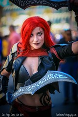 Armed and Dangerous! (Sam Antonio Photography) Tags: comiccon comicconinternational sandiegocomiccon costume cosplay cosplayer female onewomanonly swords halloween sdcc sdcc2019 red