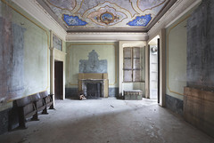 Villa Argento (Sean M Richardson) Tags: abandoned villa architecture canon mural color light