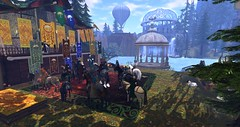 Avilion - Harvest parade and opening (Osiris LeShelle) Tags: secondlife second life avilion medieval fantasy roleplay combat heart sim harvest festival parade opening ceremony stands horses