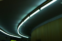 Мetro ceiling (slavazayko) Tags: greencolor abstraction lights ceiling blur russia spb canon