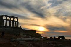 Temple of Poseidon (irmur) Tags: sunset greece