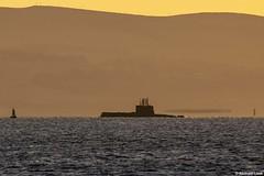 Kongelig Norsk Marine (Royal Norwegian Navy) Ula-class submarine Utsira, S-301; Firth of Clyde, Scotland (Michael Leek Photography) Tags: submarine attacksubmarine conventionalsubmarine norway norwegian royalnorwegiannavy bergen clyde hmnbclyde hmnb hmsneptune firthofclyde scotland scottishcoastline scottishlandscapes scotlandslandscapes scottishshipping thisisscotland sunrise sunlight morning morninglight nato natowarships natoexercise jointwarrior jointwarrior2019 westcoastofscotland westernscotland westernferries navalvessel navalexercise michaelleek michaelleekphotography