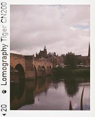 Devorgilla II (bigalid) Tags: film 110 minolta autopak pocket 470 lomographytiger200cn c41 june 2019 dumfries river nith devorgilla bridge
