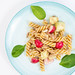 Healthy meal with Pasta and Vegetables with Tuna fish