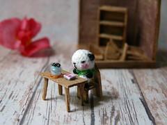129-Panda 12mm new (3) (tinyteensdolls) Tags: amigurumi crochet craft crochetmini crochettoy crochetteddy panda miniature microcrochet mini minicrochet micro miniamigurumi microroombox microscale dollhouseminiature dollhouseminiatures dollhousefordollhouse handmade bear